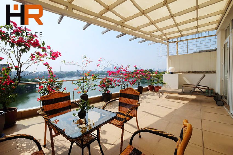 Beautiful balcony & Lake view apartment 01 bed on Truc Bach street