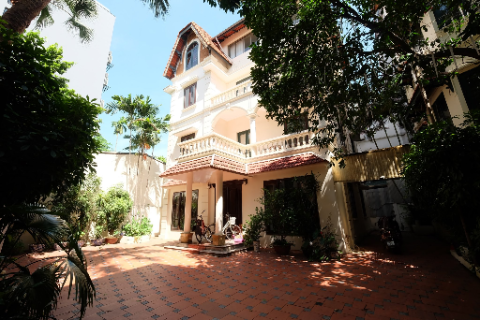 Lovely 4 bedroom house with big yard for rent in To Ngoc Van - Tay Ho