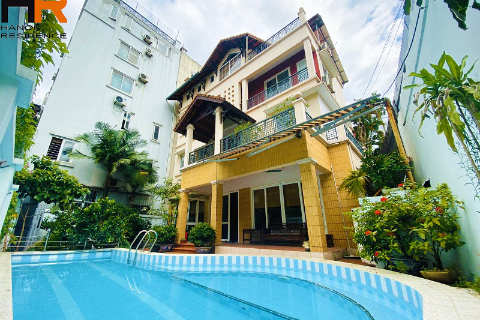Lake view swimming pool house for rent in Quang An - Tay Ho