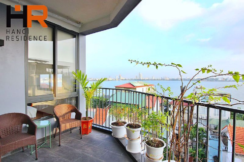 Lake view apartmet 02 beds for rent on Quang Khanh, Tay Ho dist