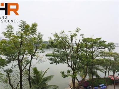 Lake view apartment for rent in Truc Bach area, 2 bedroom & services