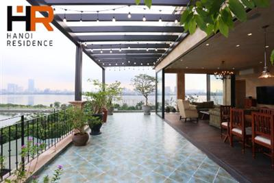 Serviced, Duplex apartment with big balcony, lake view & 3 bedrooms