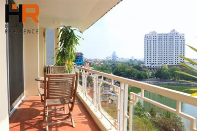 Modern serviced apartment for rent in Xuan Dieu, 3 bedroom & lake view