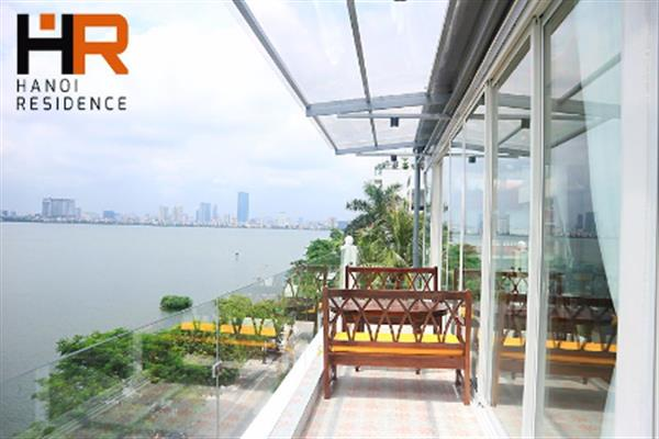 Beautiful lake view & modern 03 beds serviced apartment in Quang An street
