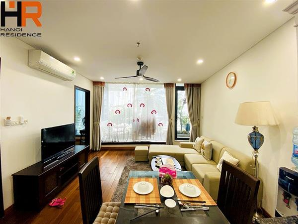 High- floor Apartment with 2 Bedrooms and Balcony for rent in Ba Dinh